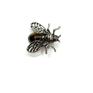 Natural Tiger Eye Cicada Brooch Pin Pendant